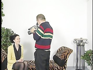 old chap gets lucky with sexy brunette