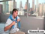 busty milf stepmom seduces legal age teenager lad