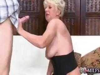 deanna is a slutty golden-haired granny that is