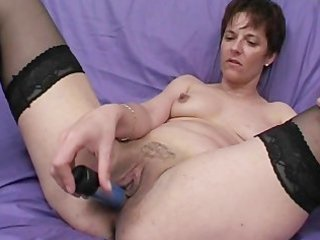 older broad takes a load in the face