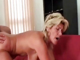 granny swallows a large ramrod and bonks it is