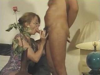 french milf sucks his pecker and receives fucked