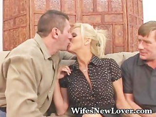 fresh lover for wife with fur pie hubby
