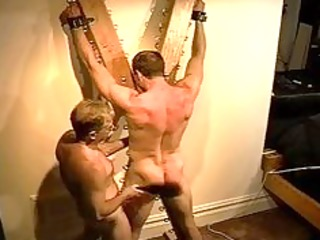 massive bodybuilders muscle arse receives an