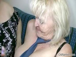 obscene blond granny loves fucking a bulky