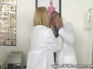 lascivious nurses and breasty doctor dominating