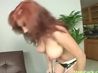 charming redhead mamma shows butt daughter how to