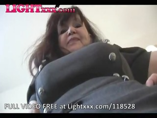 mature mother i teases in tan stockings again
