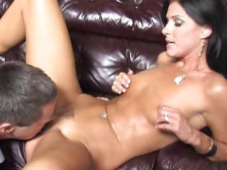 wife goes darksome in front of her cuckold spouse