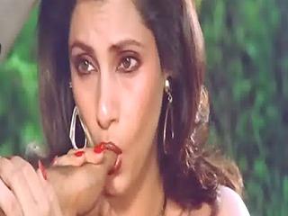 Sexy Indian Actress Dimple Kapadia Sucking Thumb