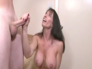slutty cook jerking busty d like to fuck gives