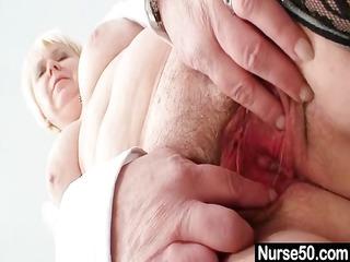 large zeppelins old lady in uniform fingers