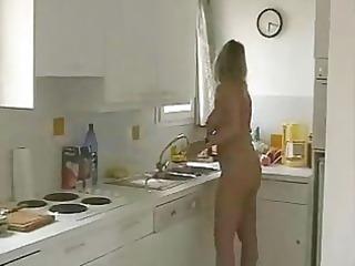 my stepmom in the kitchen