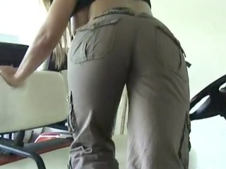 breasty golden-haired wife with big round booty