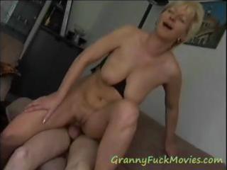 very experienced blond mature floozy