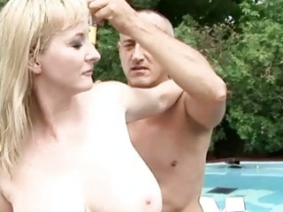breasty grandma enjoys sexy sex outdoor