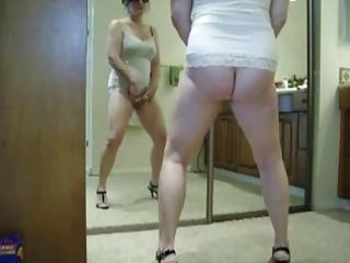 Nice stolen video of my mom masturbating in front