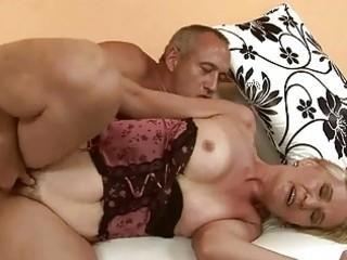 sexy granny enjoying sex
