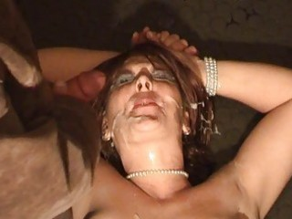 non-professional wife way-out bukkake fetish