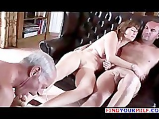old cuckold lick one as well as the other wife