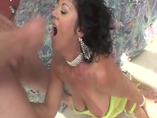 older wife enjoying cumshots in different sex