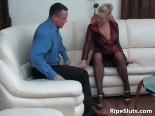pleasant aged blonde receives pussy drilled part0