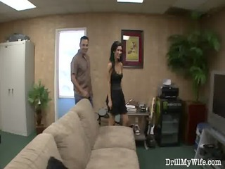 naughty wife does a stranger and she can it
