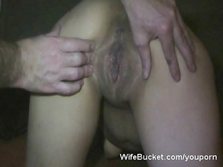 horny wife acquires a large creampie