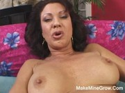 hot milf show her unshaved pussy