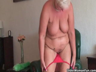 chubby granny with saggy big boobs and overweight