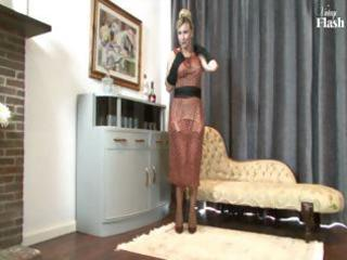 golden-haired milf strips and uses her hawt high
