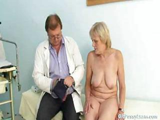 mature brigita visiting gyno doctor for real