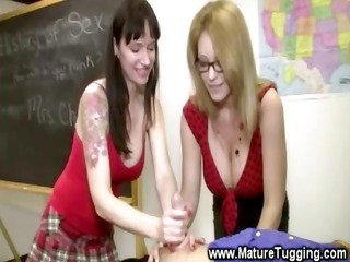 naughty teachers rubbing students hard rod in