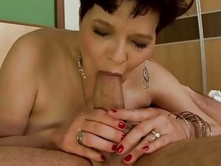 horny granny does blowjob and gets drilled hard