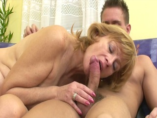 russian mom makes it is with younger guy