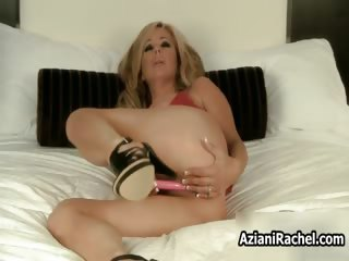 hot blond milf with massive tits didlo part1