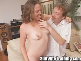 young slut wife eats her creampie
