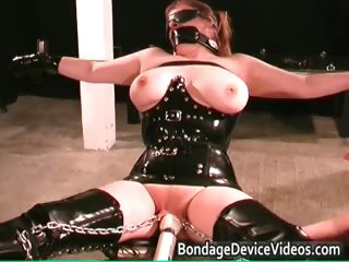perverted milf gets tied and cookie inspected