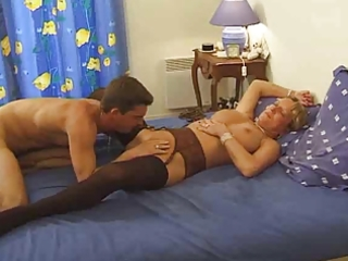 breasty french mommy likes juvenile cock by troc