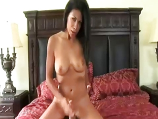 sexually excited mama giving a handjob by troc