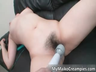 breasty oriental mother i blowing tube part1