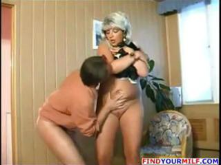 chubby golden-haired russian aged receives and