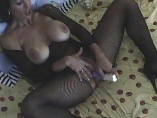 black haired mother i in body stocking