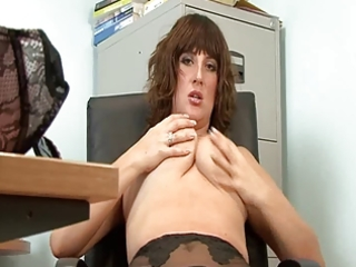 hot older secretary full fashion nylons