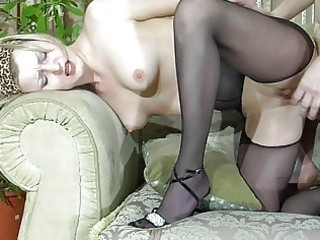 pale blonde d like to fuck in darksome hose