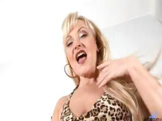 aged older blond anal bead play