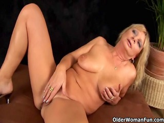 busty grandma squirts her cookie juice as that is
