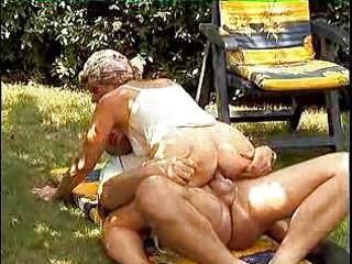 Granny sluts in heat have outdoor xxx fun