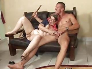 aged astonishing granny hungry juvenile man sex