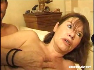 aged big beautiful woman takes it in the gazoo